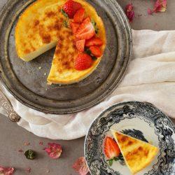 Tarta de queso al horno saludable