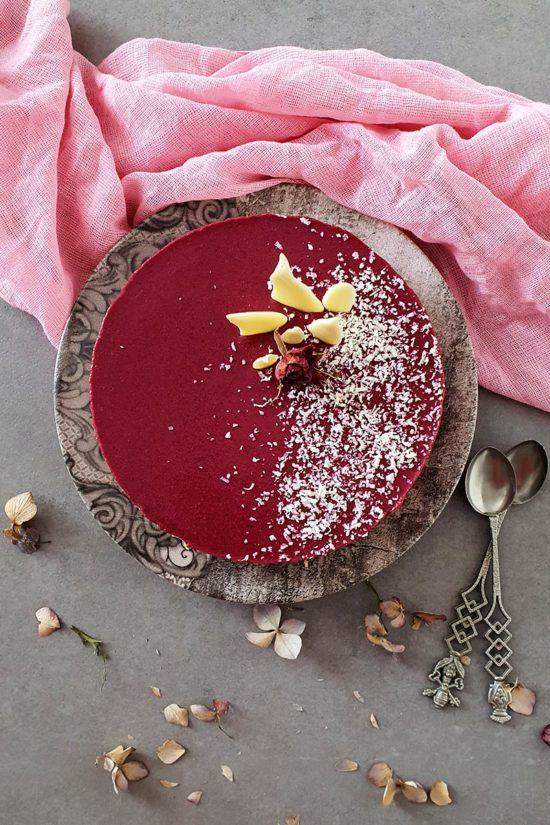 tarta de yogur y frutos rojos
