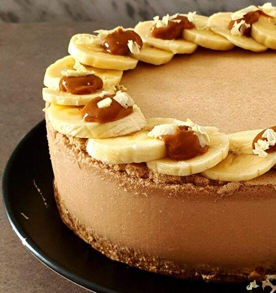 tarta de platano y crema de cacahuete