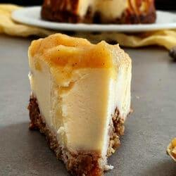 Cheesecake de manzana asada