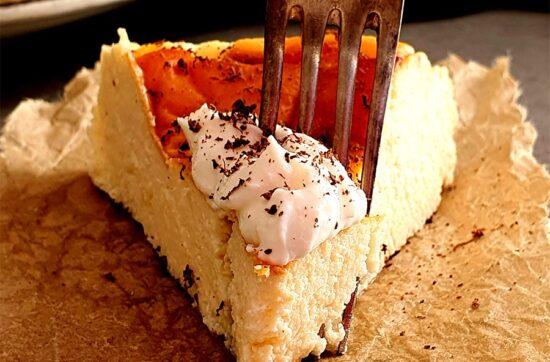Tarta de queso mascarpone al horno